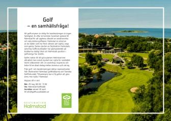 Pressinbjudan 29 maj: Golf - en samhällsfråga