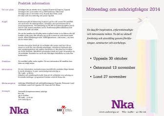 Programmet för de regionala mötesdagarna 2014