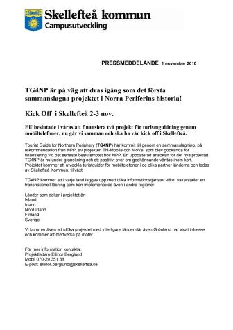 TG4NP är på väg att dras igång som det första sammanslagna projektet i Norra Periferins historia!