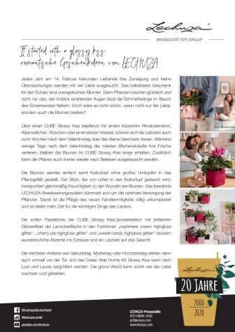 It started with a glossy kiss: romantische Geschenkideen von LECHUZA