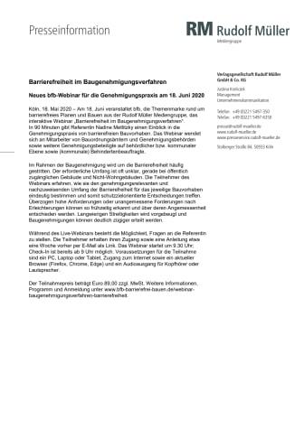 Barrierefreiheit im Baugenehmigungsverfahren