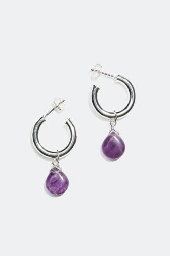 Earrings with semi precious stones - 159 kr