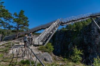 Vøringsfossen. Staircase bridge. Harald Chritian Eiken - vmproduksjon.no