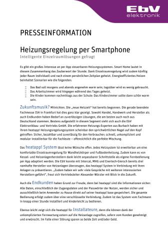 Heizungsregelung per Smartphone: Intelligente Einzelraumlösungen gefragt
