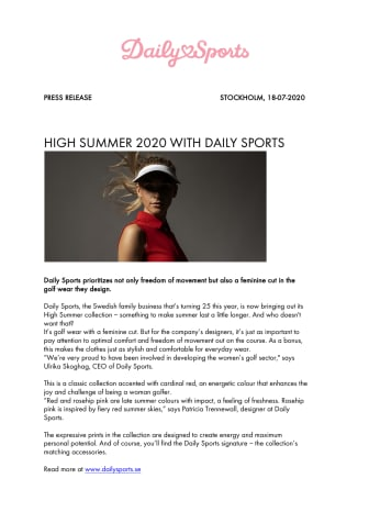 Daily Sports press release High Summer 2020