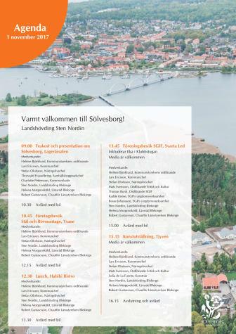 Landshövdingsbesök i Sölvesborg