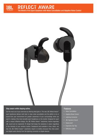 IFA 2015: JBL sætter en ny standard for sportshøretelefoner med fokus på fitness, udholdenhed og action