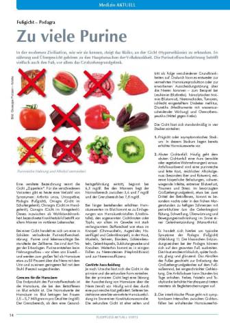 Fußgicht – Podagra: Zu viele Purine