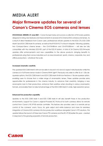 Canon pressinformation Cinema EOS Firmware update 1 juni 2021.pdf