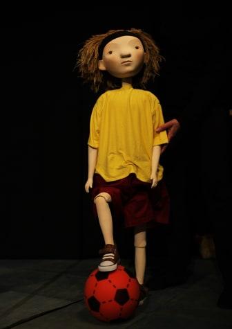 LitteraLund: Docka från föreställningen Lill-Zlatan och morbror Raring