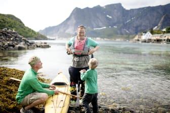 Kayaking in Lofoten