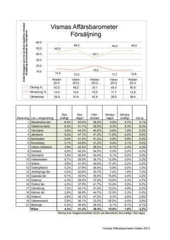Vismas Affärsbarometer hösten 2013
