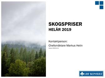 Skogsmarkspriser - helår 2019