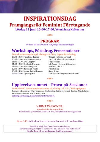 Inspirationsdag i Ytterjärna Kulturhus 11:e juni