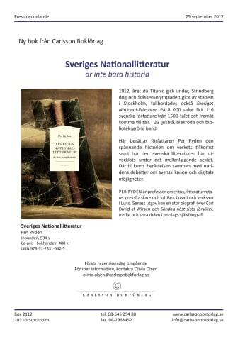 Sveriges nationallitteratur nominerad till Stora Fackbokspriset