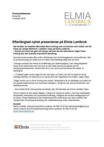 Efterlängtad nyhet presenteras på Elmia Lantbruk