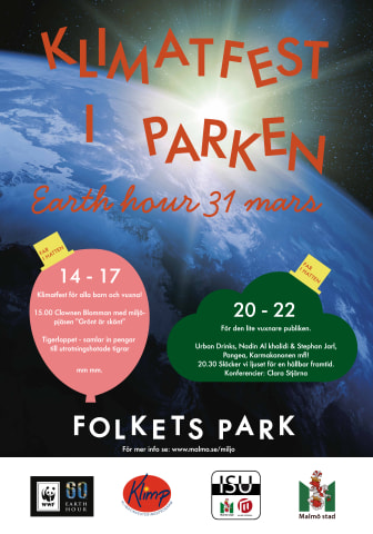 Earth Hour i Malmö (affisch)
