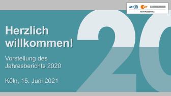 Präsentation zum Jahresbericht 2020