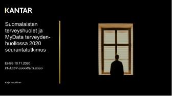 Suomalaisten terveyshuolet ja MyData terveyden-huollossa 2020 seurantatutkimus