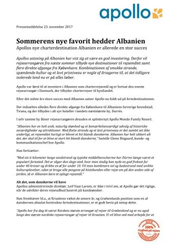 Sommerens nye favorit hedder Albanien