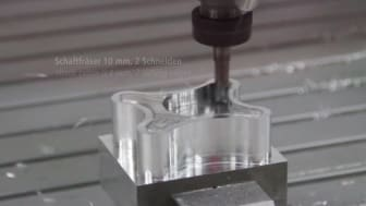 Milling of aluminium with a CNC machine from Isel