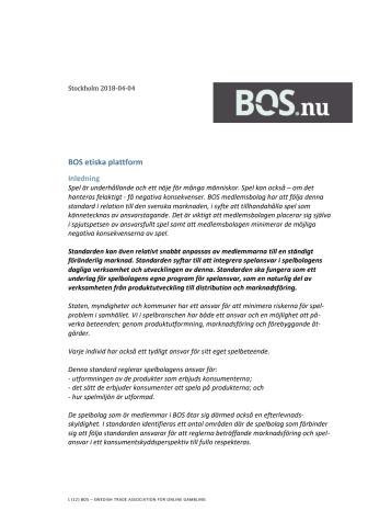 BOS Etisk plattform