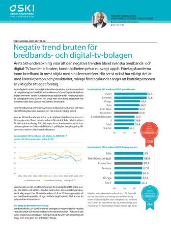 Negativ trend bruten för bredbands- och digital-tv-bolagen