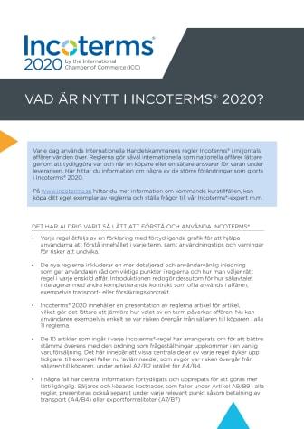 Nyheter i Incoterms® 2020