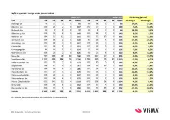 Vismas månadsrapport för nyföretagandet (januari 2012)