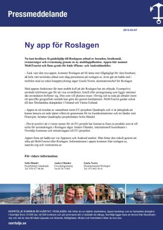 Ny app för Roslagen