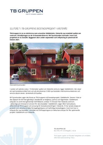 Slutsålt i TB-Gruppens bostadsprojekt i Västerås