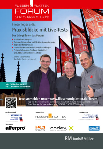 Flyer FLIESEN & PLATTEN FORUM 2019