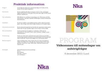 Pressinbjudan - anhörigfrågor diskuteras i Lund