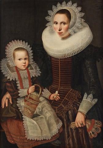 Wybrand Simonsz. de Geest, Kvinna med barn.