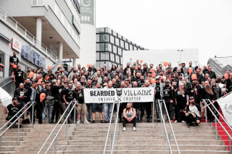 Skäggparad med Bearded Villains på World Beard Day