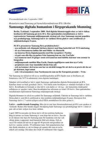 Samsungs digitala humanism i färgsprakande blomning