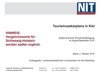 Ergebnisse der Tourismusakzeptanzstudie Kiel 2018