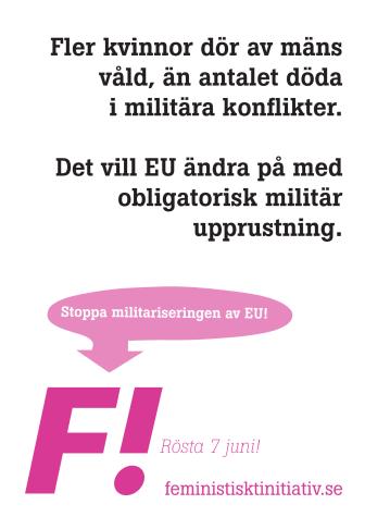 Stoppa militariseringen av EU!