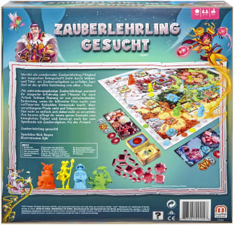 Spielrückseite Zauberlehrling gesucht I Mattel Games 2017