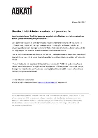 Abkati och Laitis inleder samarbete mot gruvindustrin