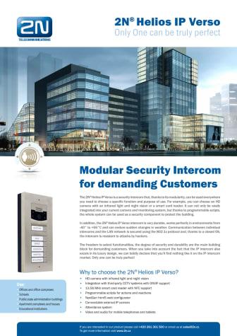 Porttelefoner från Gate Security - 2N Helios IP Verso