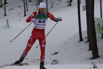 Andreas Kvam i løypa, normalprogram menn, Junior-VM Minsk
