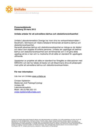 Unilabs arbetar för att ackreditera bårhus och obduktionsverksamhet