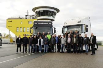 Die Spedition Spengler beim Scania Fahrsicherheitstraining