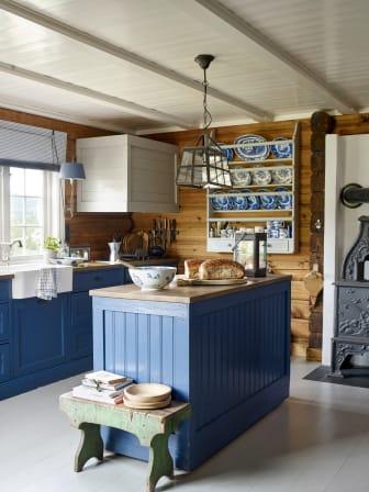 Laftet hyttedrøm kjøkken
