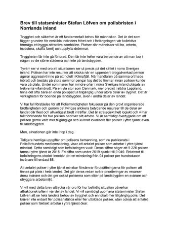 Brev till statsminister Stefan Löfven om polisbristen i Norrlands inland.pdf