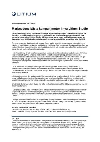 Marknadens bästa kampanjmotor i nya Litium Studio