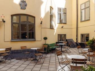 Innergård på Hotel Frantz
