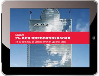 Program SABOs IT- och bredbandsdagar 18-19 april 2013