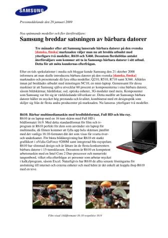Samsung breddar satsningen av bärbara datorer
